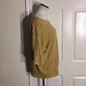 Christopher & Banks Sweaters - Christopher & Banks Pullover Gold Sweater Large